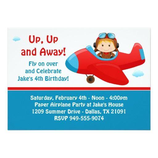 airplane birthday party invitation pinterest party invitations
