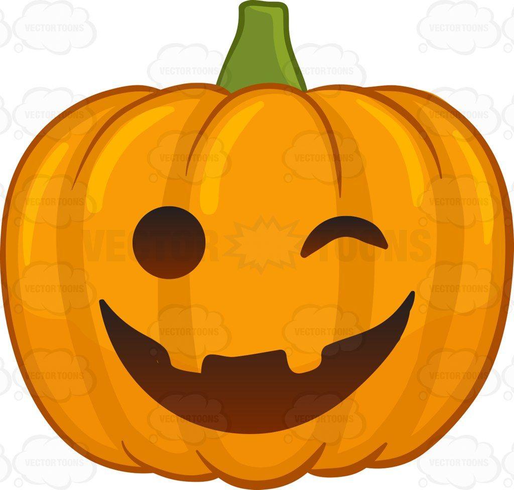 A Winking Halloween Pumpkin Emoji pumpkin carving