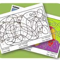 Coloriage Magique Couleurs Et Nombres Anglais Math Help