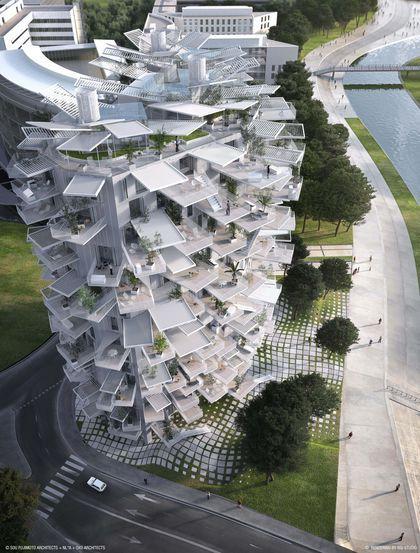 Montpellier : L'Arbre Blanc signé Sou Fujimoto, Nicolas Laisné Associés et Oxo Architects, entre art de vivre méditerranéen et architecture japonaise