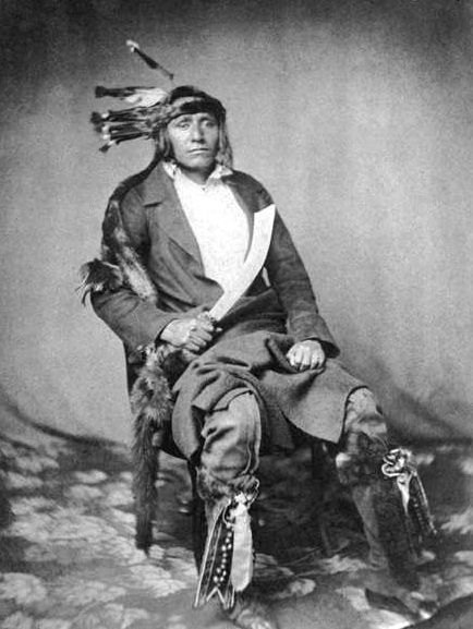 An old photograph of His Own Thunder - Mdewakanton 1858.