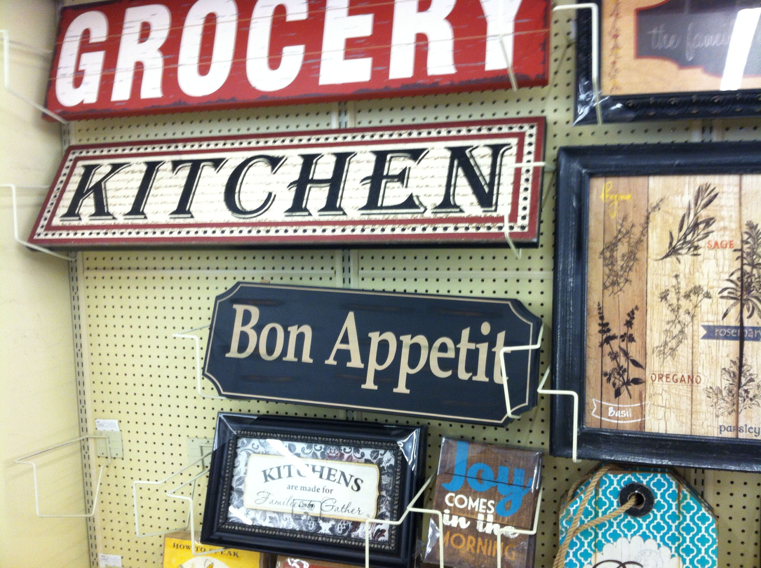 Kitchen/pantry signs at Hobby Lobby | Hobby Lobby finds ...