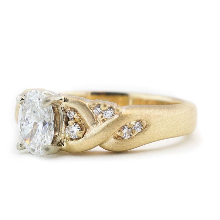 Braided Diamond Engagement Ring Engagement rings, Unique