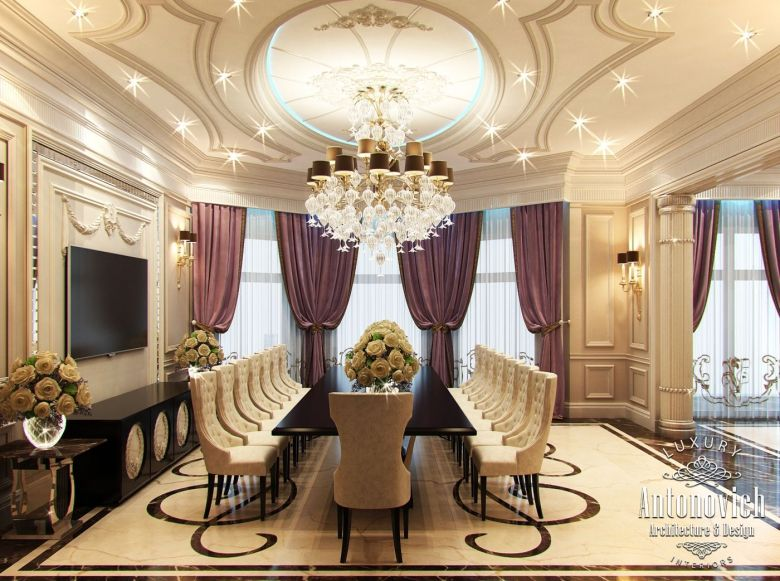 villa interior design in dubai luxury villa in palm jumeirah photo 7 - Farbakzente Interieur Einfamilienhaus