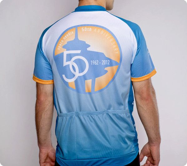 acf204cdd Seattle Space Needle Cycling Jersey - 50th Anniversary - Men s Blue ...