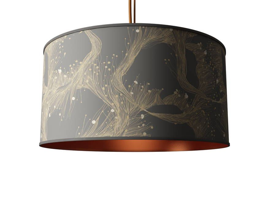 Sea lace design metallic lined lampshade gold interior interiors sea lace design metallic lined lampshade aloadofball Gallery