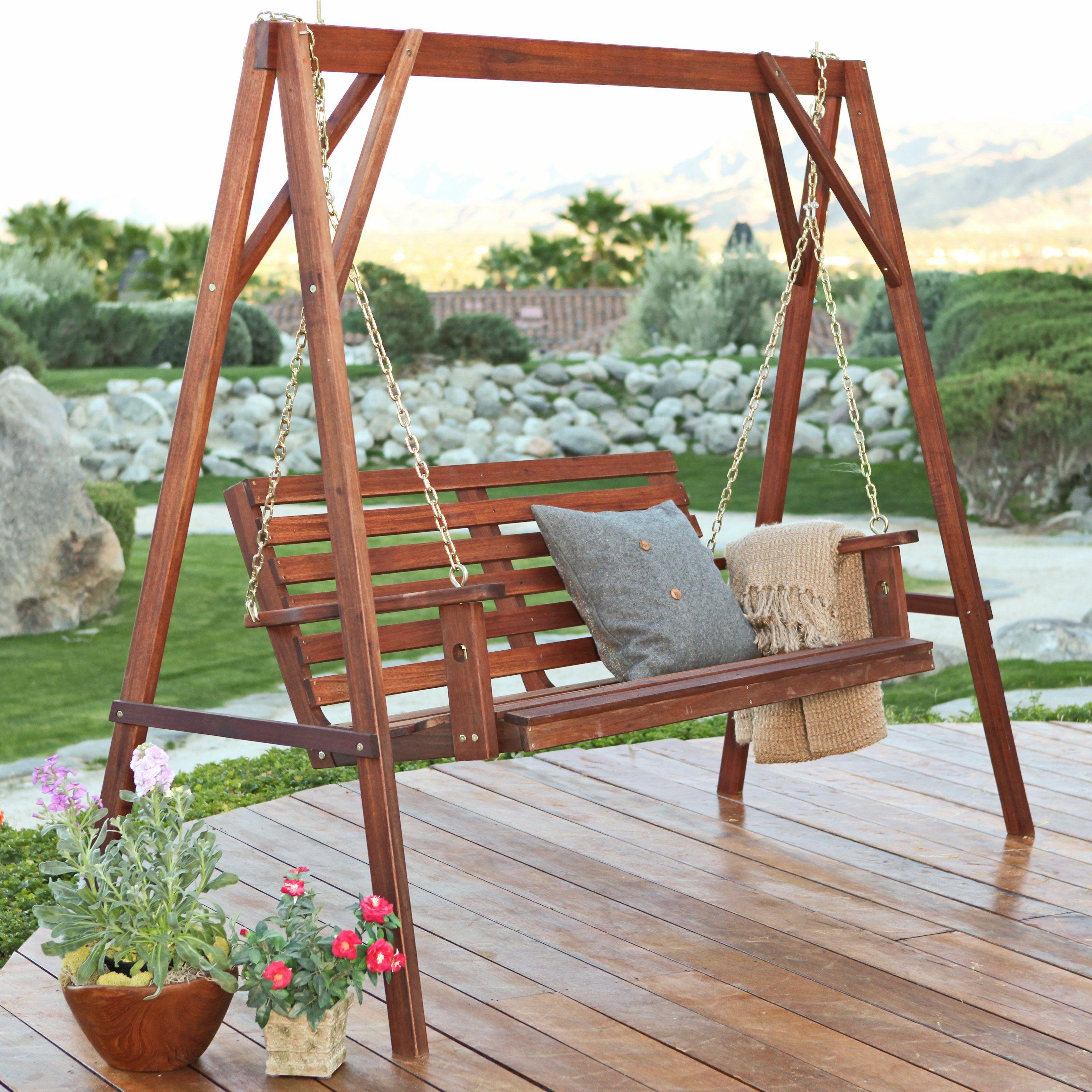 Belham Living Bay Ridge Porch Swing & Stand Set - Summer ... on Belham Living Richmond Bench id=12235