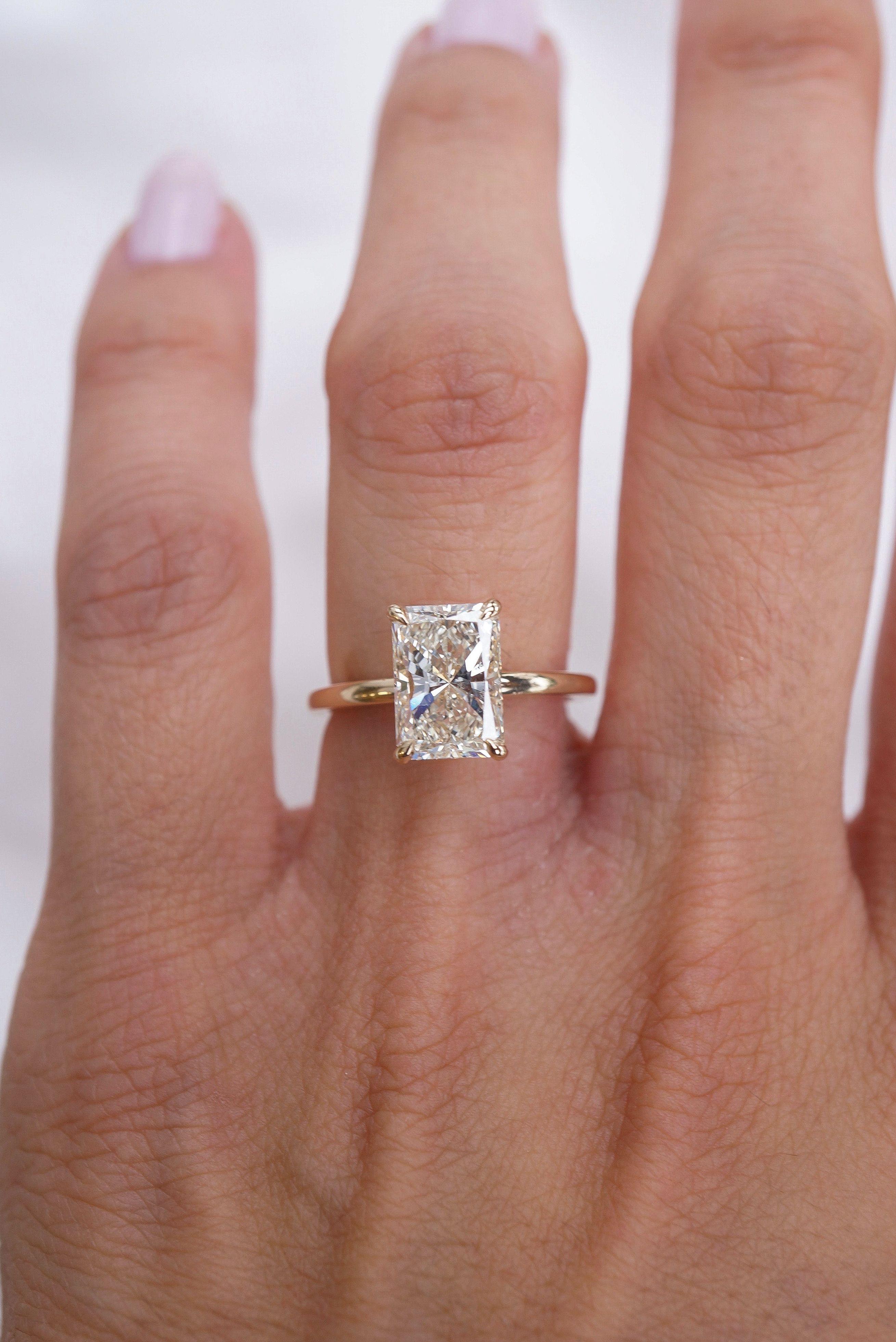 Pin On Radiant Diamond Rings