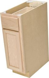 """Quality One 12"""" x 34-1/2"""" Unfinished Oak Base Cabinet with ..."""