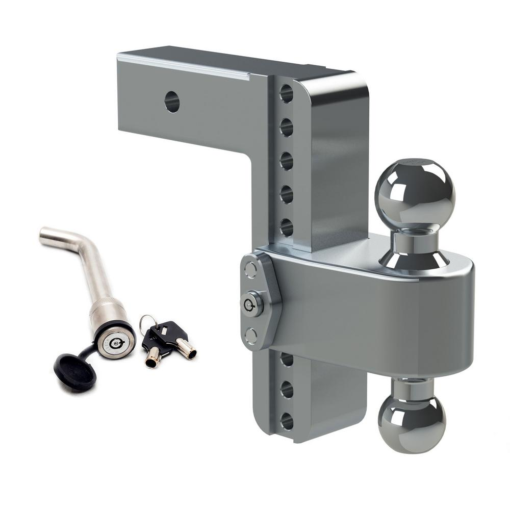 B/&W Stainless Steel Receiver Hitch Lock