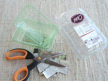 Comece separando o material para reciclar