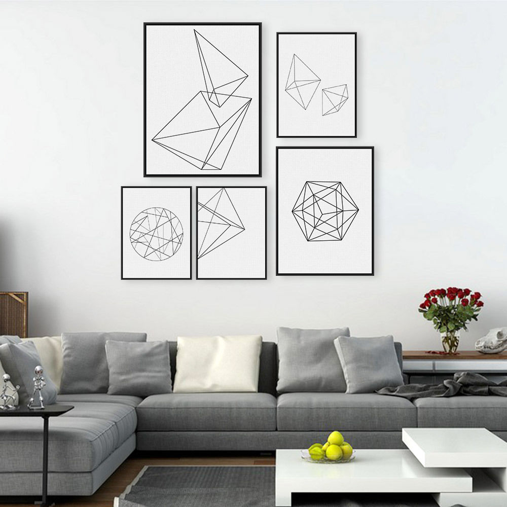 Details About Modern Abstract Geometric Shapes A4 Posters Nordic Minimal Home Decor Art Canvas Minimalist Wall Decor Minimalist Home Decor Hipster Home Decor