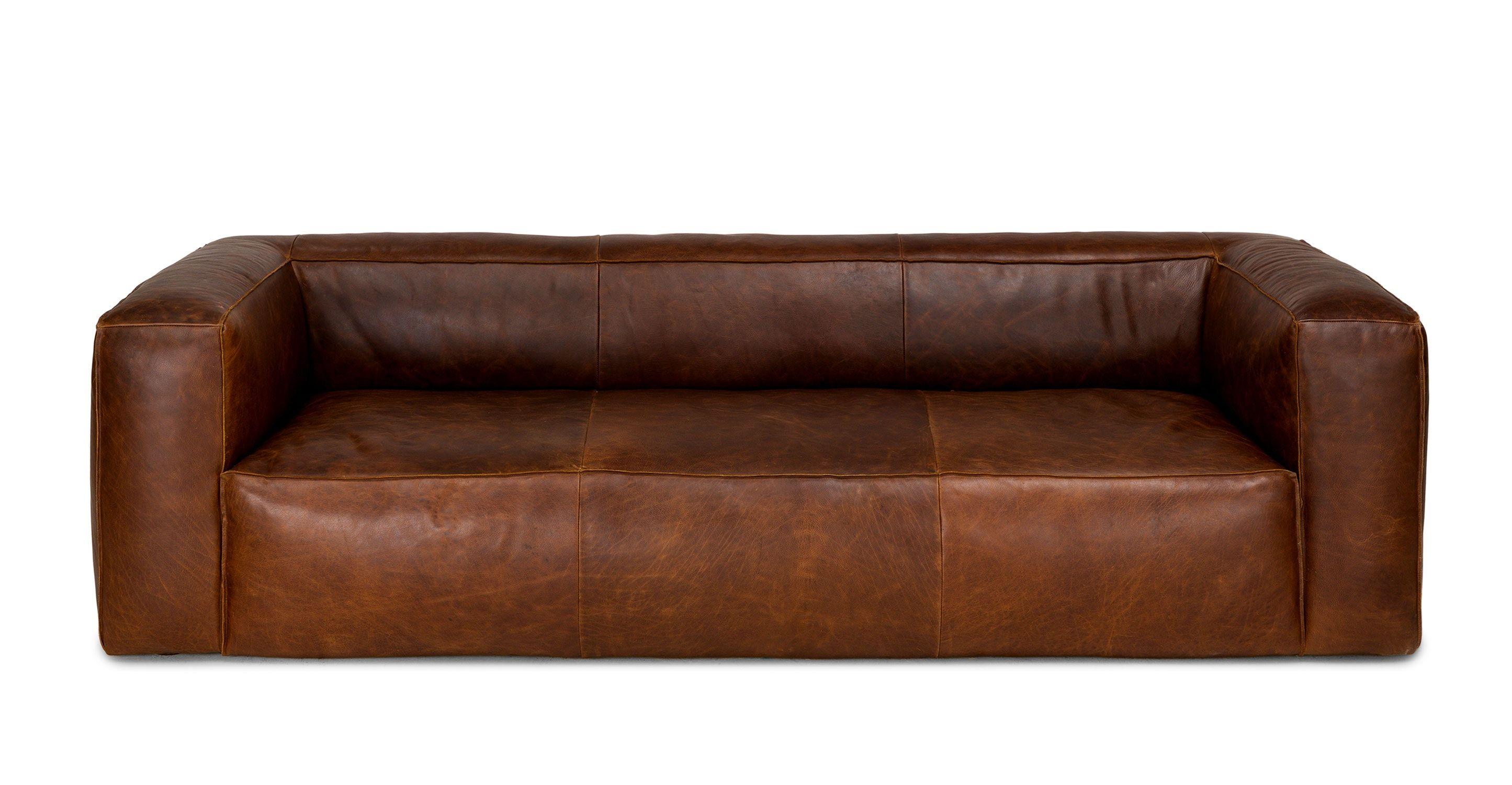 Cigar Rawhide Brown Sofa In 2020 Brown Leather Sofa Brown Sofa Brown Living Room Decor