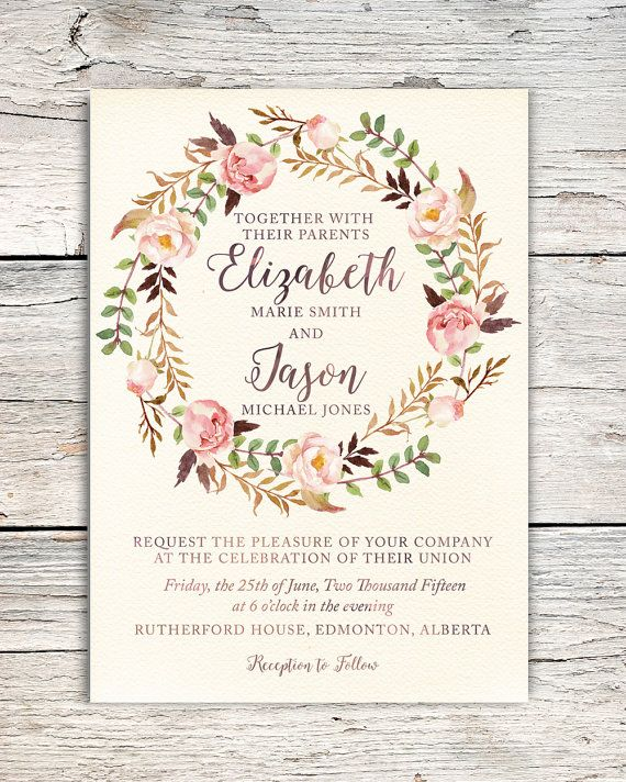 Something like this might be fun to recreate watercolor roses something like this might be fun to recreate watercolor roses floral wreath wedding invitation by solutioingenieria Gallery