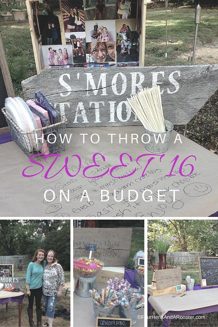 How to Have a Sweet 16 Party on a Budget (With images ...