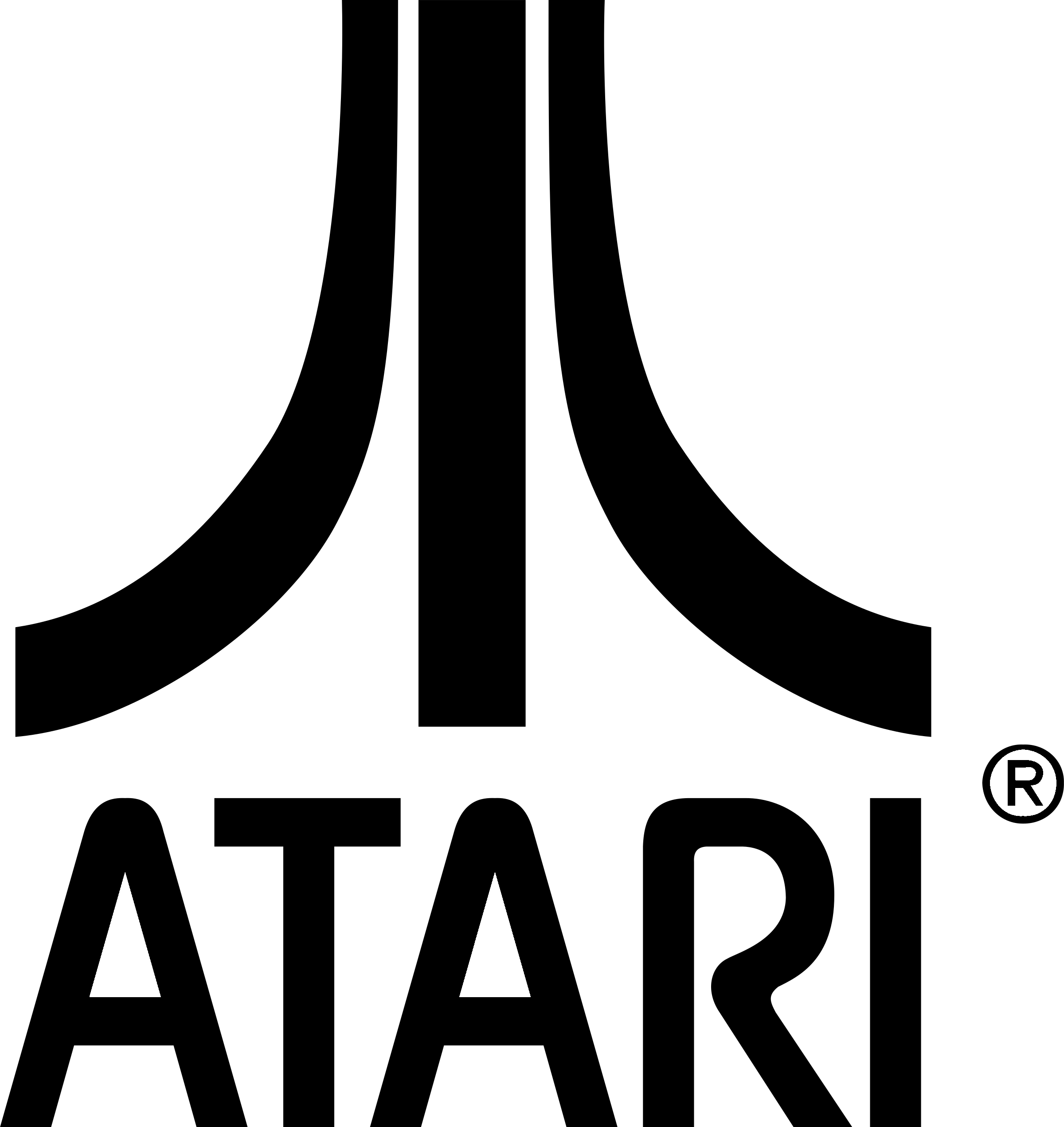 Atari Logo Black And White Atari Logo Game Logo Rainbow Logo