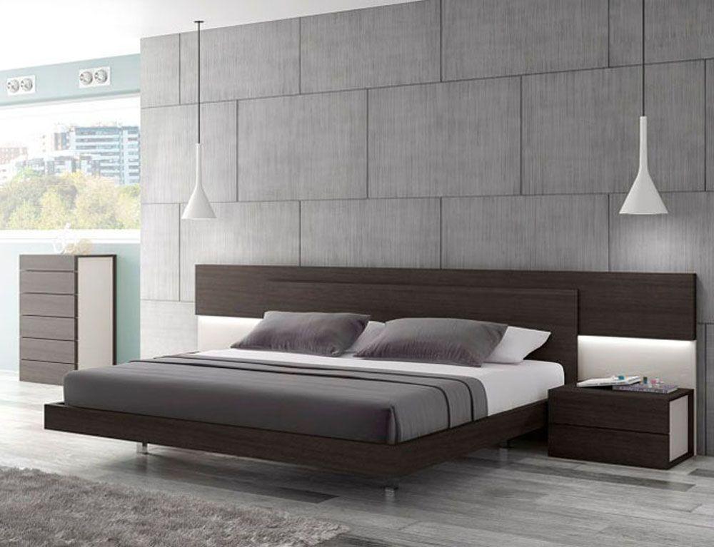 Lacquered Graceful Wood Luxury Platform Bed Bedroom Bed Design