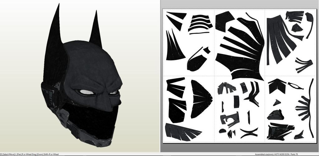 Batman Arkham Knight - Beyond Helmet +FOAM+ - Pepakura eu