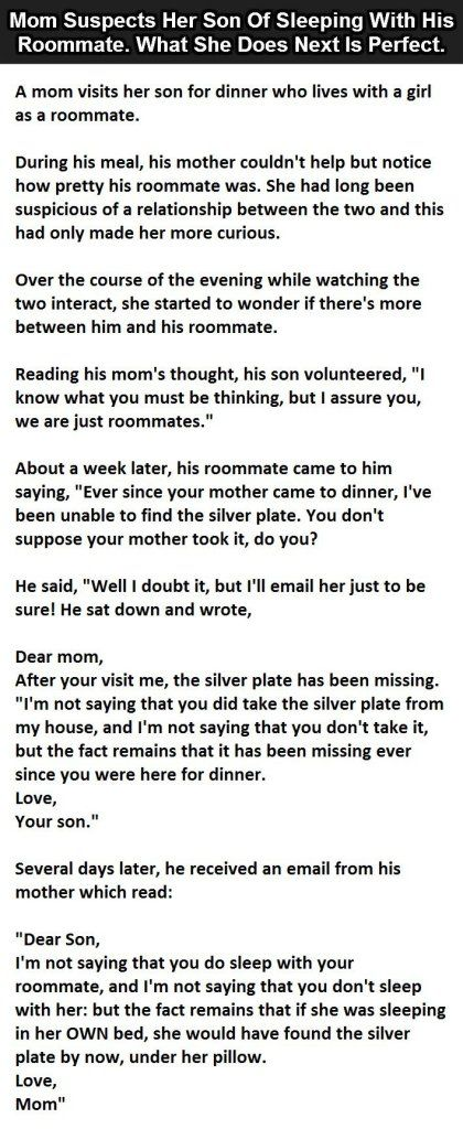 Mom Suspects Her Son Of Sleeping With His Roommate. What ...