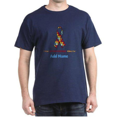 Cafepress personalized autism support dark t shirt men 39 s for Mens medium tall shirts