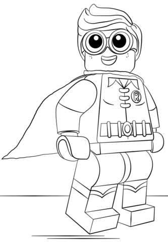 Lego Robin Coloring Page From The LEGO Batman Movie Category Select 25123 Printable Crafts