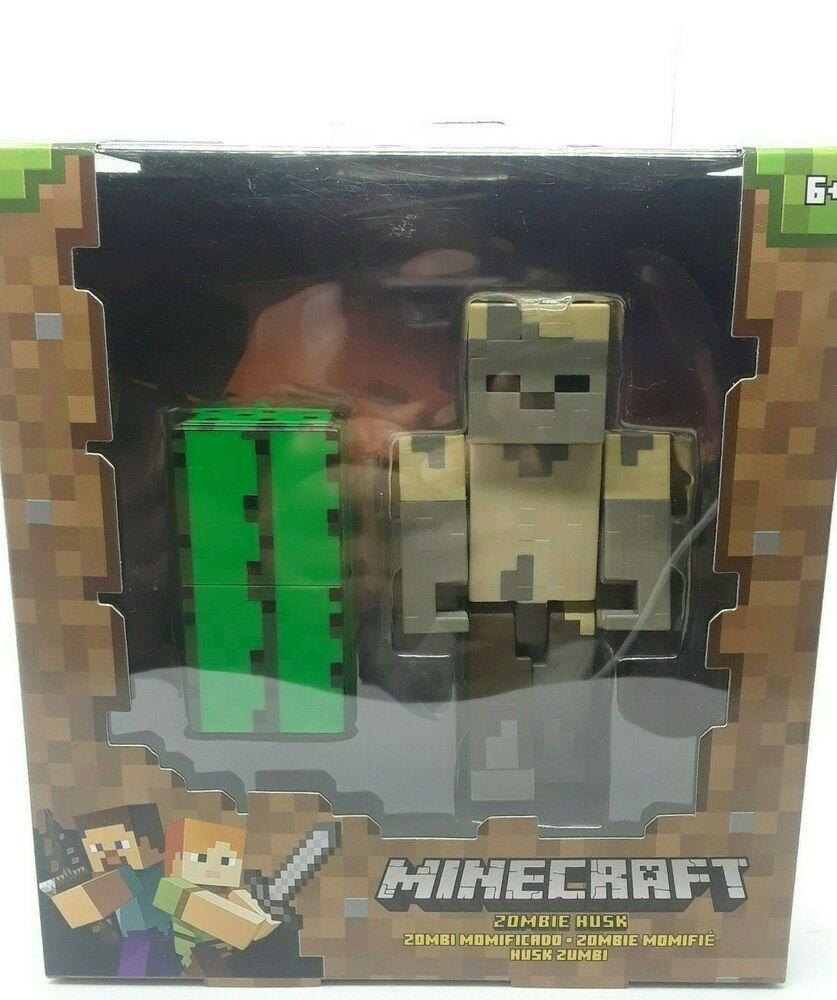 NEW MINECRAFT ~ Zombie Husk Mattel 5 Character Figure Cactus