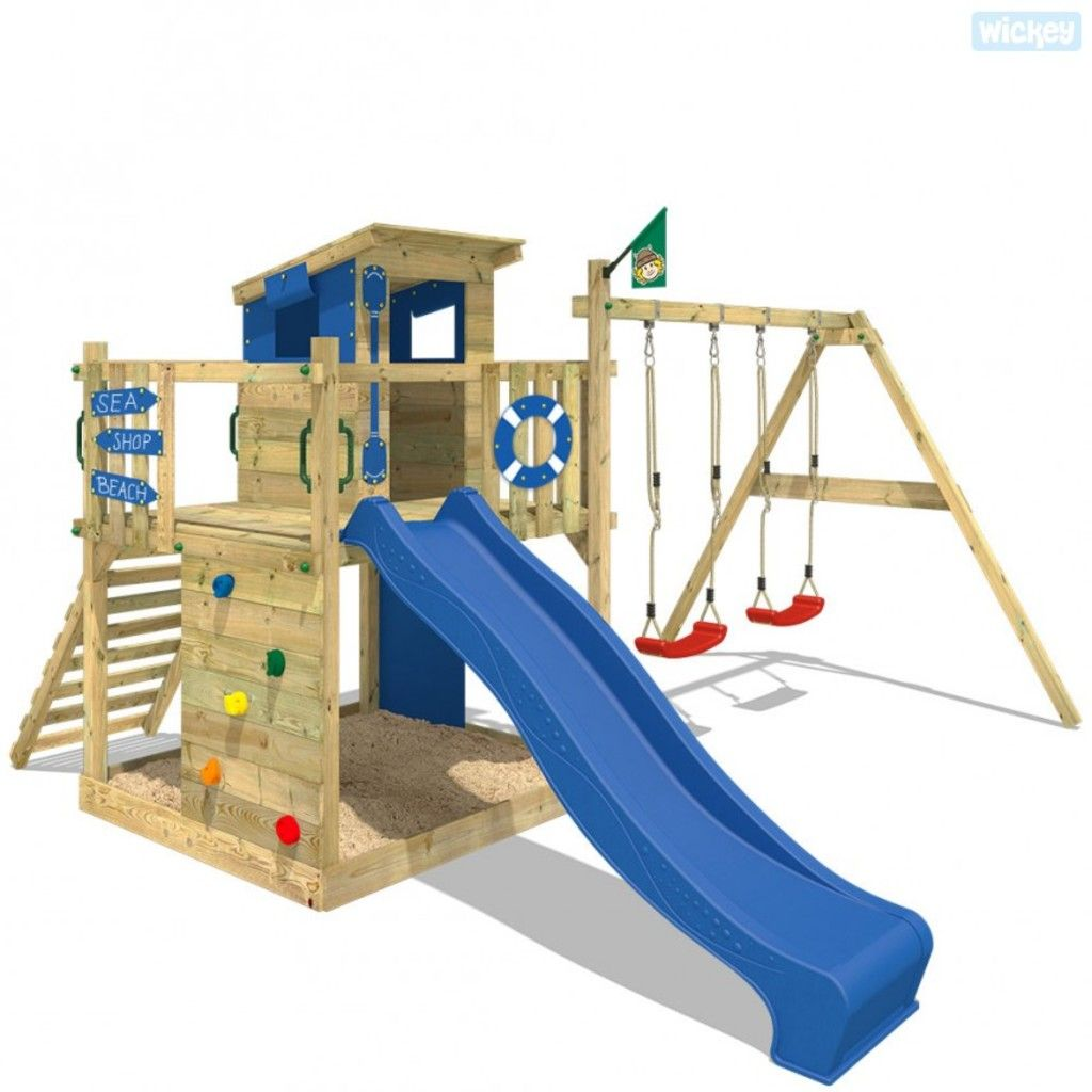 Spielturm WICKEY Smart Camp Garten Kinder Kletterturm Stelzenhaus ...