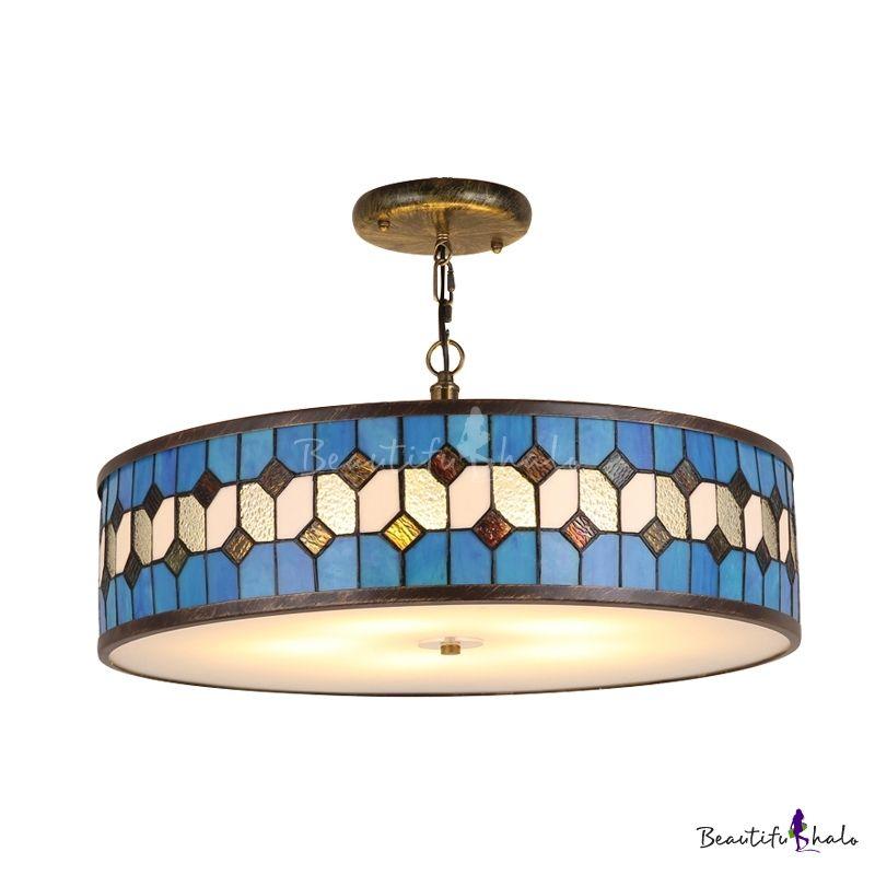 Chandelier Lamp Fixture 5 Lighting Pendant Mosaic Glass Lamp Shades Ceiling Lights Chandelier