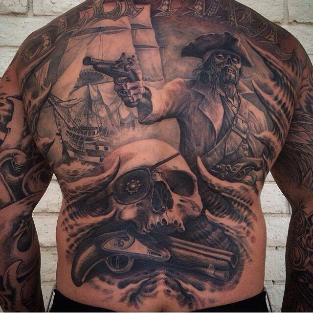Pirate Rug Next: Josh Duffy #tattoo #pirate #skull #galleon