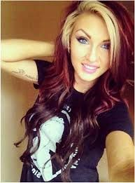 Dark Hair With Blonde Fringe Google Search Red Blonde