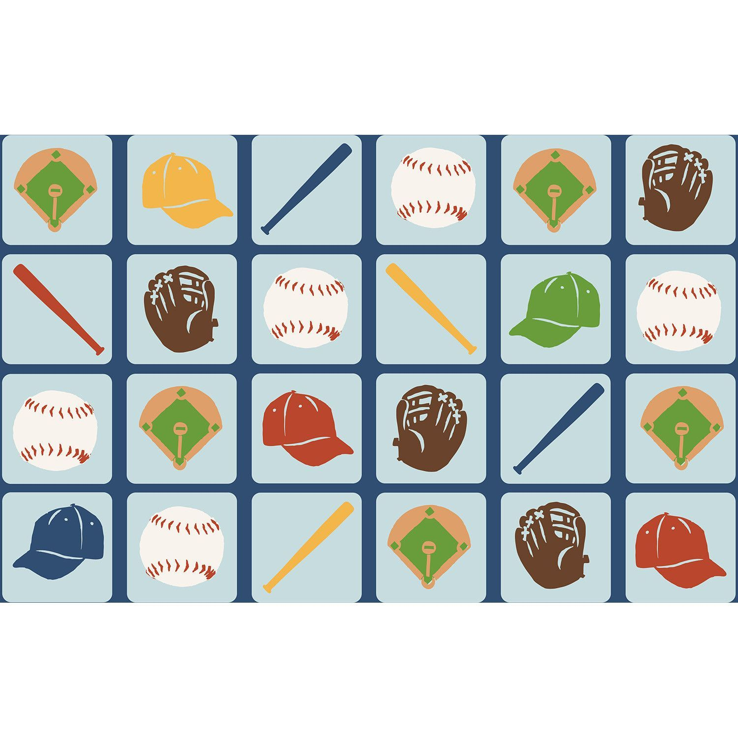 Fun Rugs Time Collection Up To Bat Area Rug