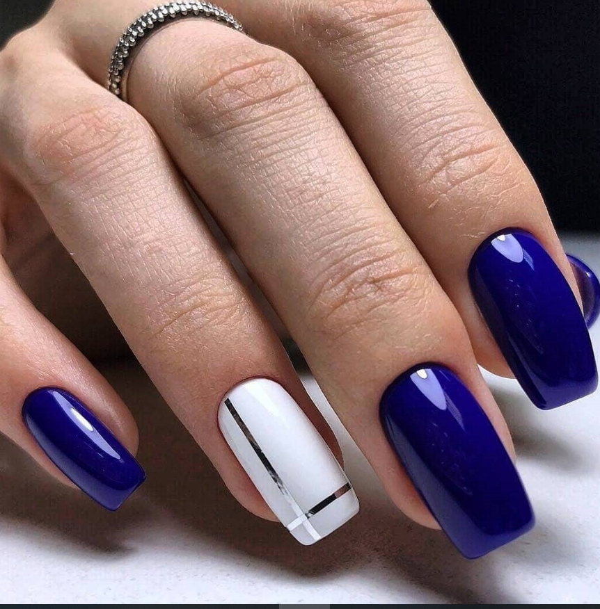 58 Chic Natural Gel Short Coffin Nails Color Ideas For Summer Nails Blue Nail Art Designs Nail Art Designs Blue Nail Art