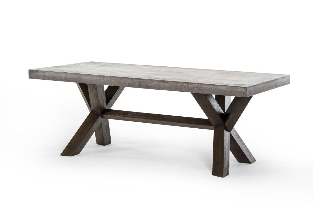 Adonis Concrete Top Dining Table Concrete Dining Table