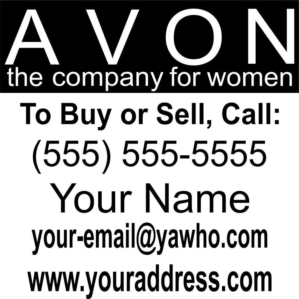Avon Business Custom Car Truck Window Wall Laptop Vinyl Decal Sticker - Custom vinyl cutout stickers