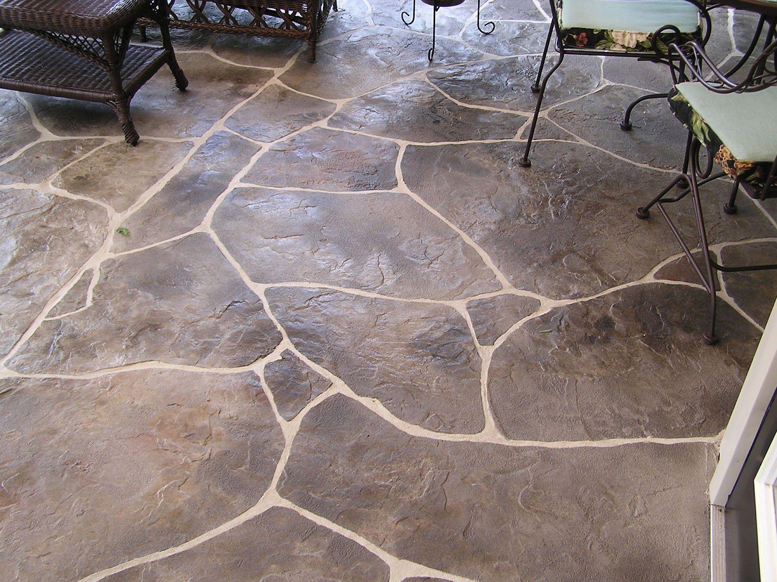 Textured Concrete Patio Designs Stamped Concrete Porch Pattern Is