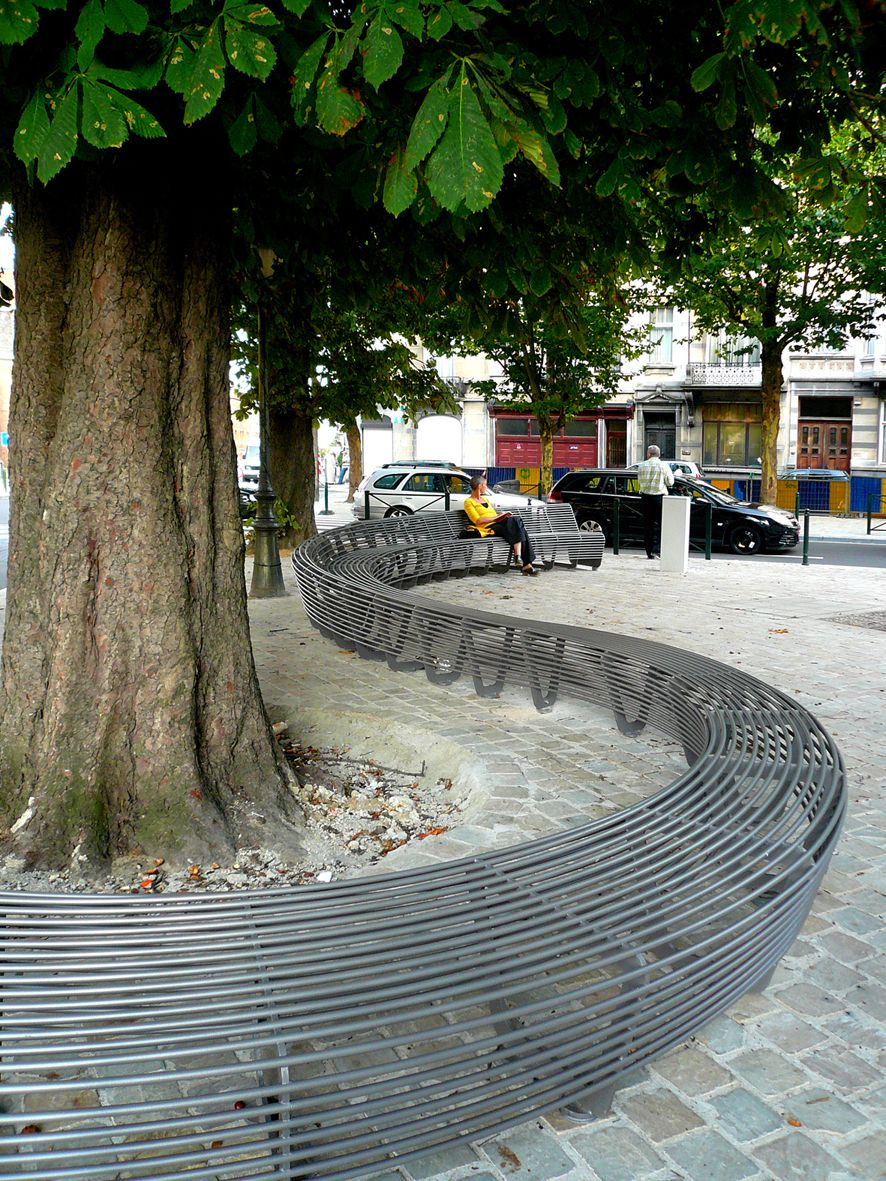 Outdoor Public Seating Benches