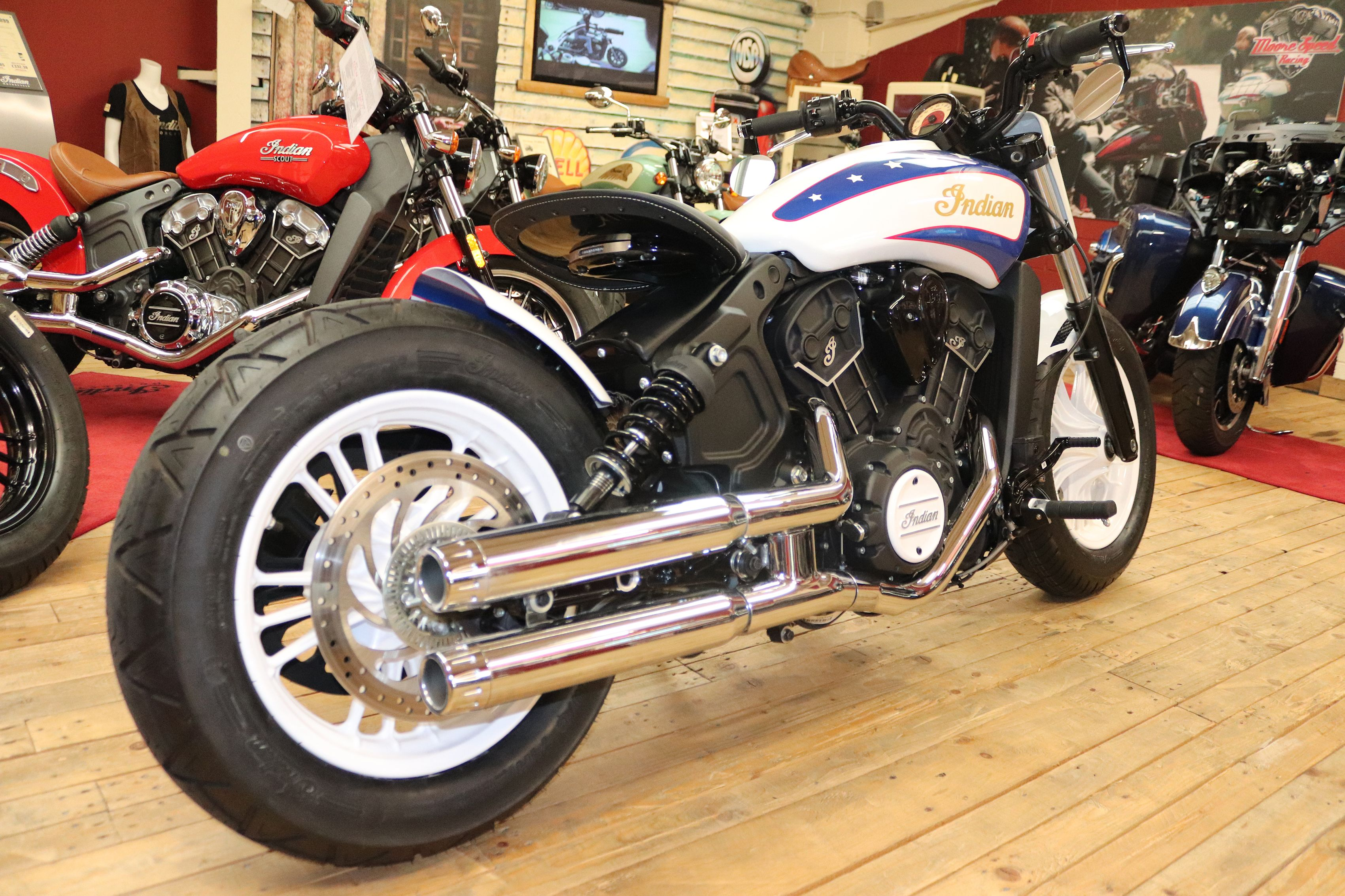 Special Custom Indian Scout Bobber Build By Moore Speed Racing