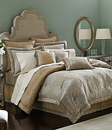 Croscill Opal Bedding Collection #Dillards... Love The Gold And Light Blue