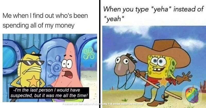 When You Type Yeha Instead Of Yeah Funny Spongebob Memes Spongebob Memes Funny Memes