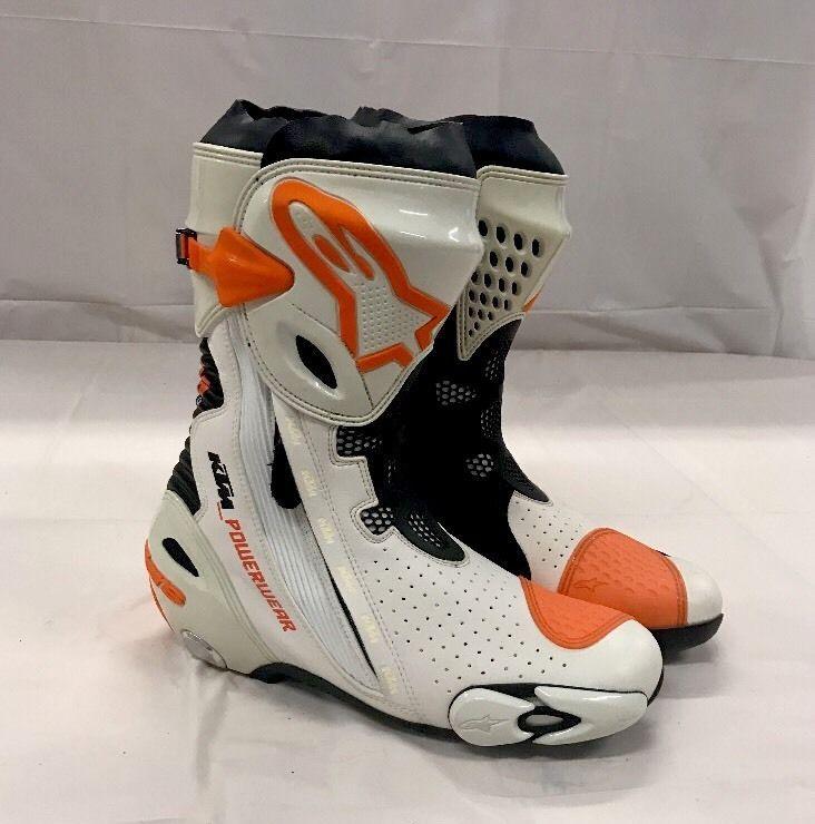 Alpinestars Ktm Super Tech R Street Boots Size 9 5 Orange X2f White New Ebay Motors Parts Amp Accessories Apparel Amp Boots Alpinestars Riding Boots
