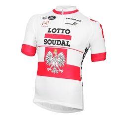 c0d6979e6 2015-2016 LOTTO SOUDAL Short Sleeve Jersey Polish Champion Cycling Jersey