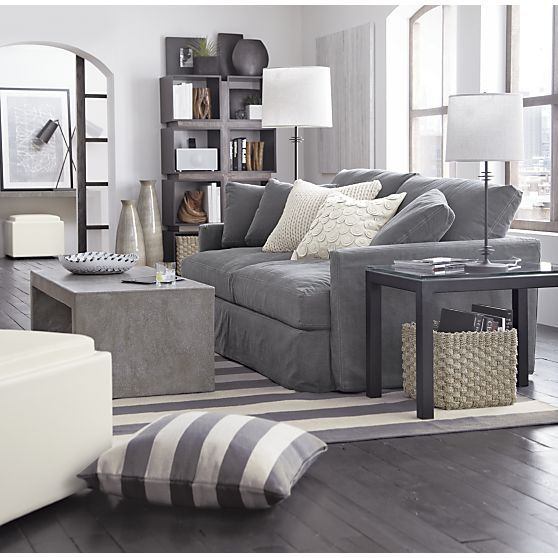 Living Room   Lounge Slipcovered Sofa, Mason Coffee Table, Olin Rug I Crate  And Barrel Part 86