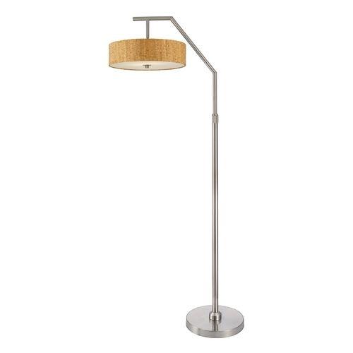 Design classics lighting adjustable arc floor lamp with cork drum shade 1116 09 sh9472