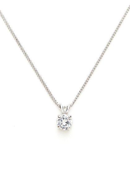 The simple round diamond necklace round cz mini pendant necklace by the simple round diamond necklace round cz mini pendant necklace by cz by kenneth jay aloadofball Choice Image