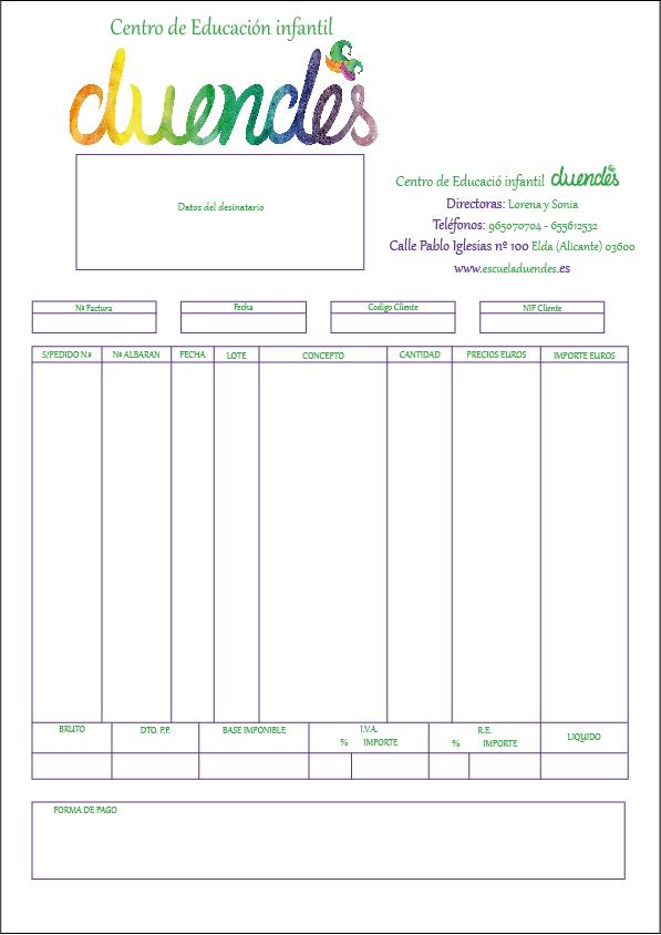 Factura DUENDES | Diseño gráfico | Pinterest | Invitaciones de boda ...