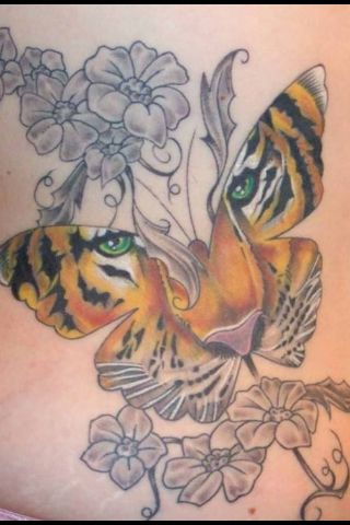 3adc80366a68f Tiger butterfly tattoo... without the flowers | Tiger Butterfly Tat ...