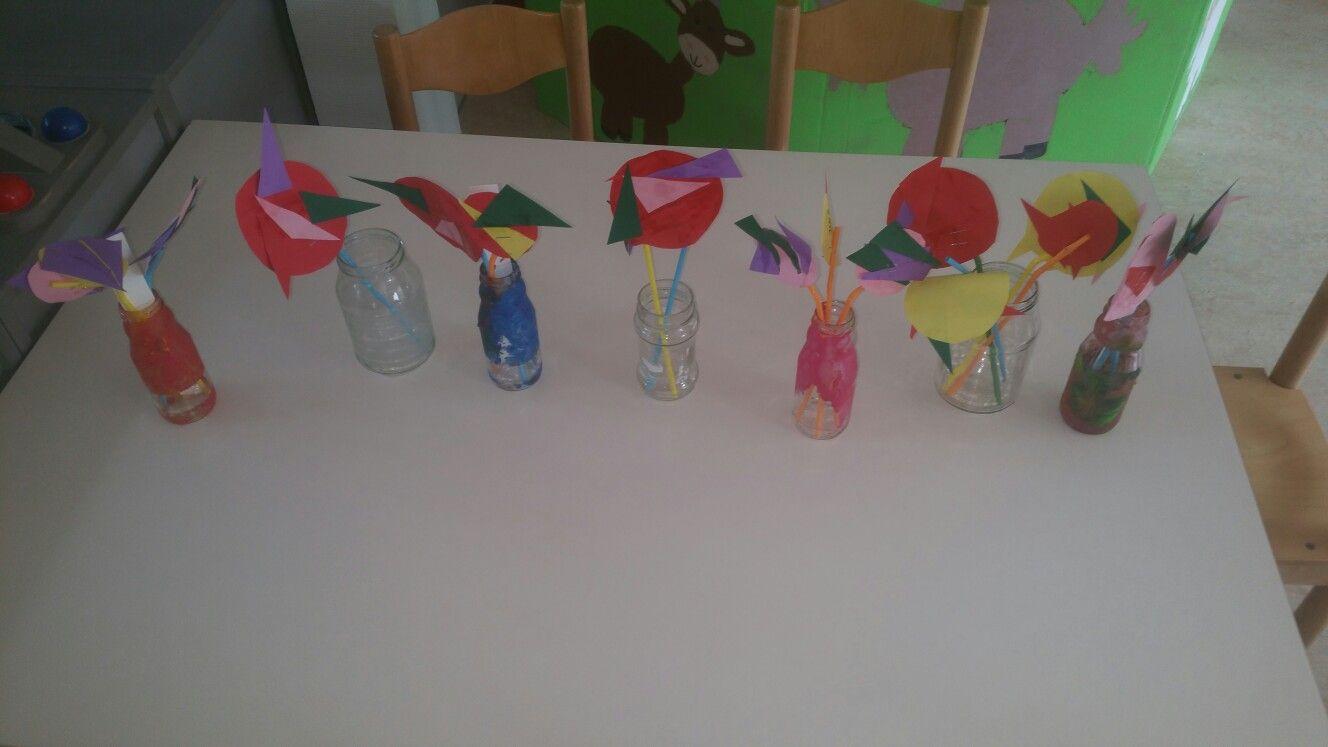 Kleuren en vormen  Alle bloemetjes op een rij
