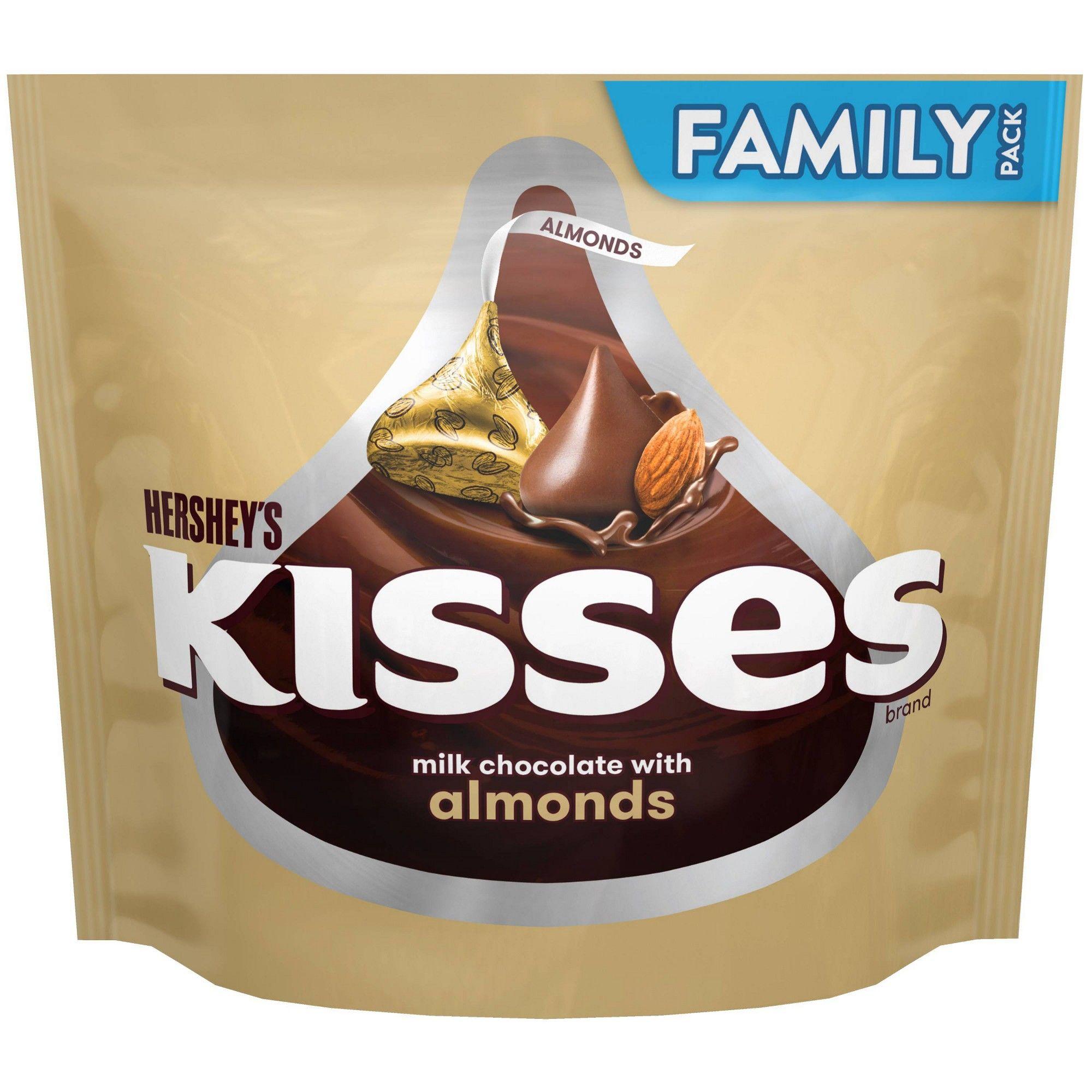 Kisses Almond Chocolate Candy 16oz Adult Unisex Kisses Almond