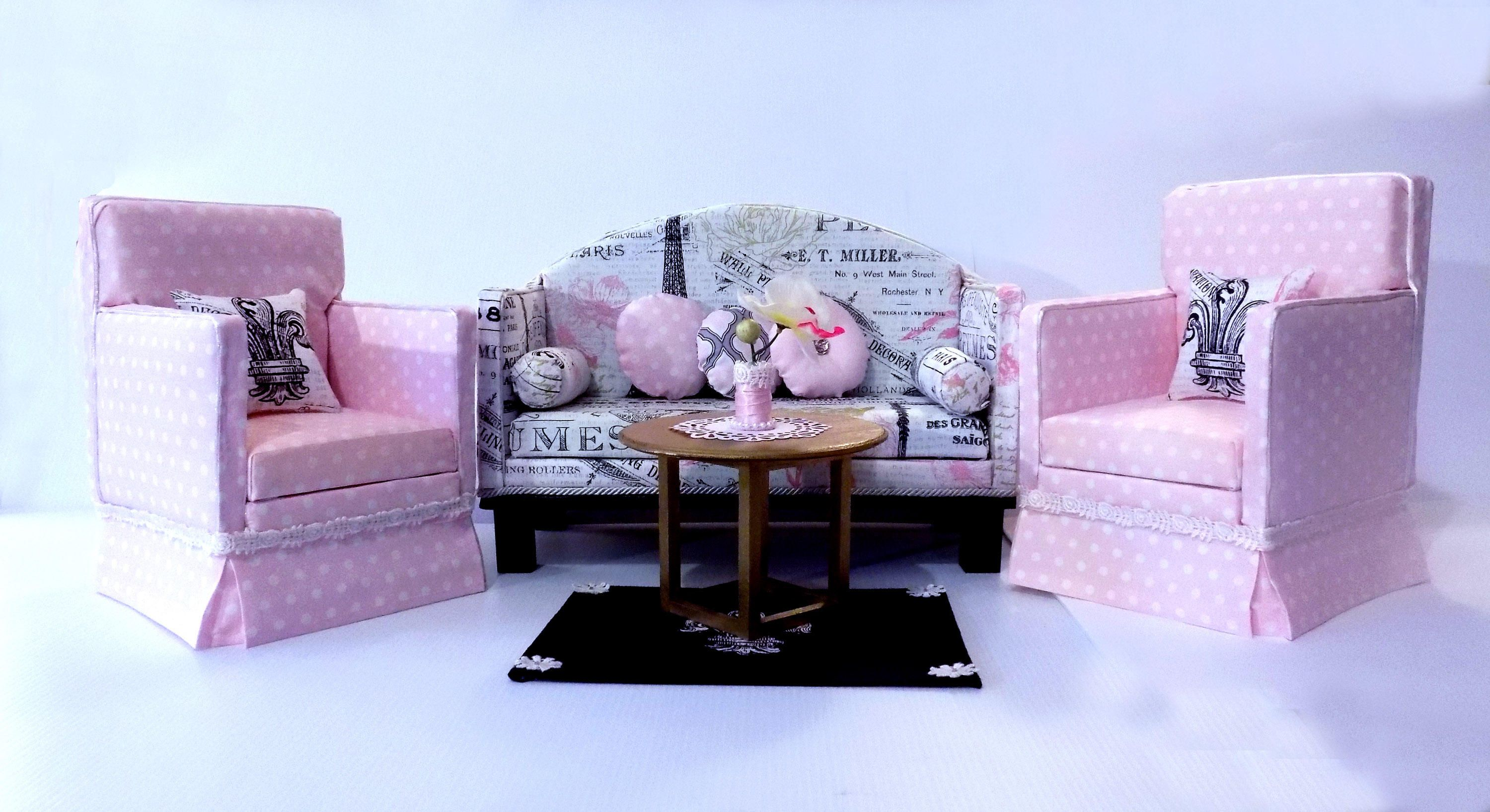 American girl doll french kiss living room set by hkdesignz on etsy