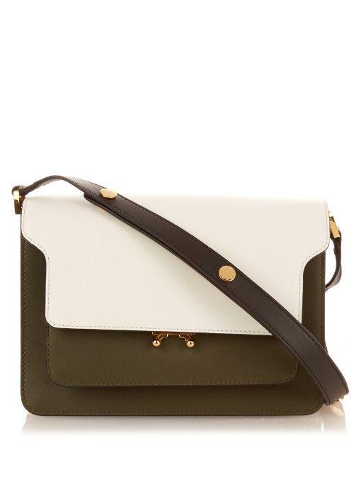 Marni Trunk medium bi-colour leather shoulder bag  6f603b173f033